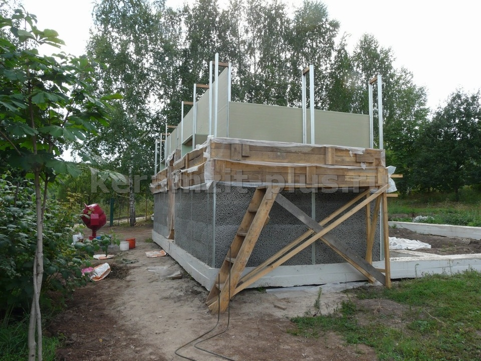 Дом из заливного керамзитобетона своими руками бетон тяжелый класс в15 м200 купить в самаре